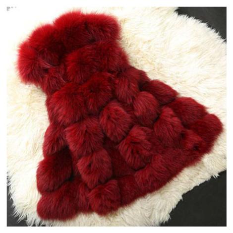 Módní kožešinová vesta kožich bez rukávů umělý různé barvy