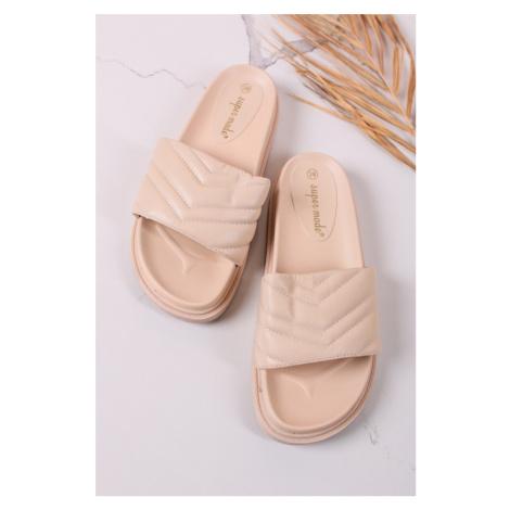 Béžové nízké pantofle Niora Belle Women