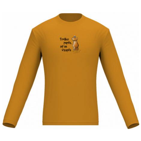 Pánské tričko dlouhý rukáv Trošku pepře, ať se vzepře