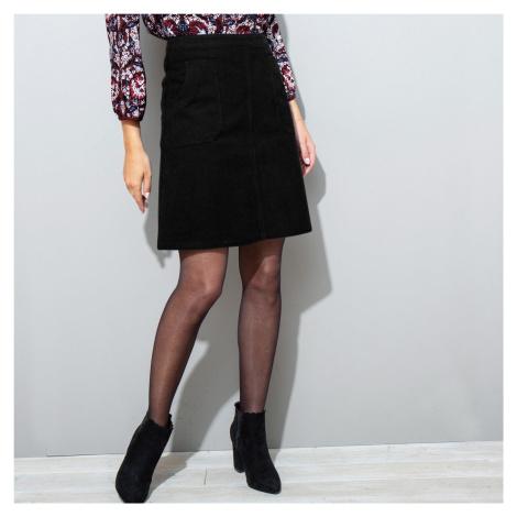 Manšestrová rozšířená sukně černá