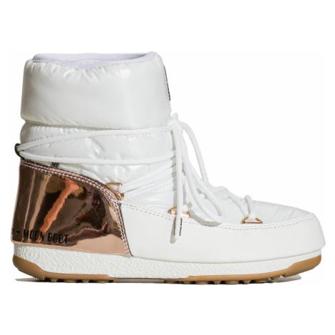 Boty Moon Boot LOW ASPEN WP bílá|zlatá