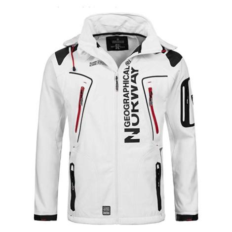 Luxusní značková pánská softshellová bunda GEOGRAPHICAL NORWAY s odepínatelnou kapucí. Barva: Bí