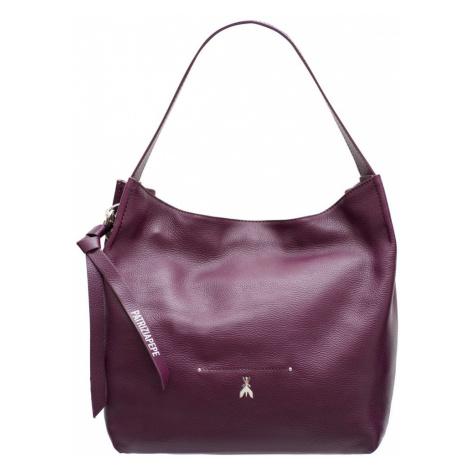 Patrizia Pepe kožená kabelka přes rameno - fialová