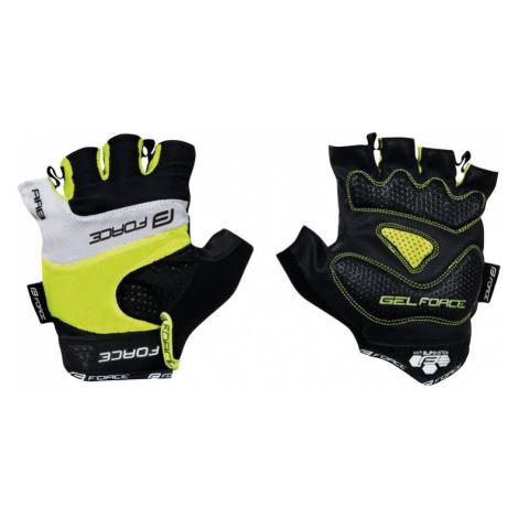 Cyklistické rukavice FORCE RAB gel fluo