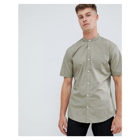 French Connection Henley Short Sleeve Shirt - Green