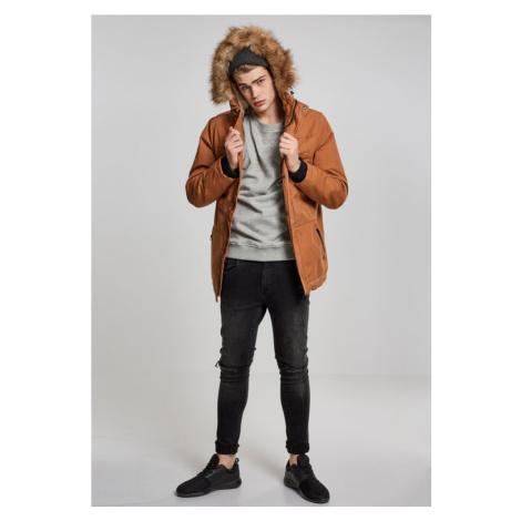 Heavy Cotton Imitation Fur Parka - toffee Urban Classics
