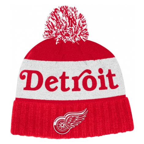 Zimní čepice adidas Culture Cuffed Knit Pom NHL Detroit Red Wings