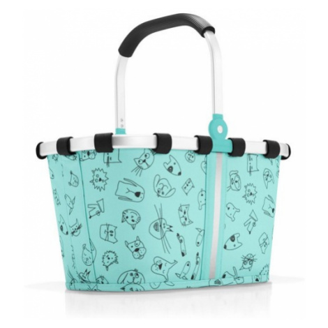 Dětský košík Reisenthel Carrybag XS kids Cats and dogs mint