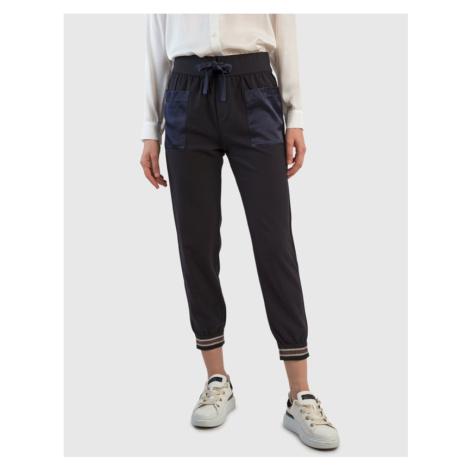 Tepláky La Martina Woman Trouser Bi/Stretch Cady - Modrá