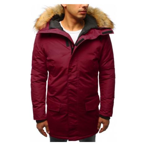 Pánská bordó zimní bunda s kožichem tx2439 BASIC