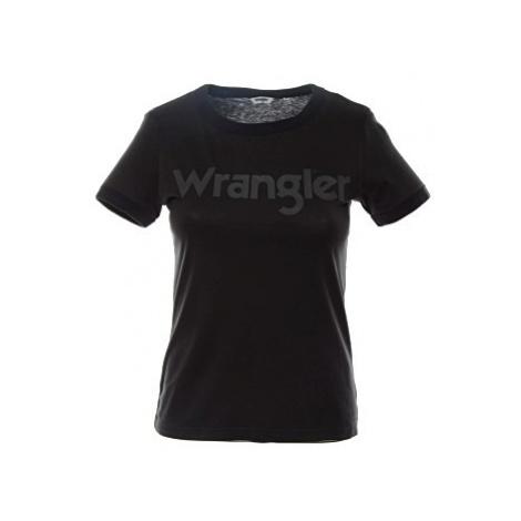 Triko Wrangler Ringer Tee dámské černé