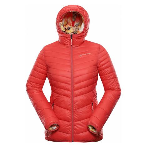 Dámská zimní hi-therm bunda Alpine Pro IDIKA - červeno-oranžová