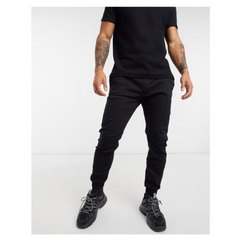 Bershka slim joggers in black
