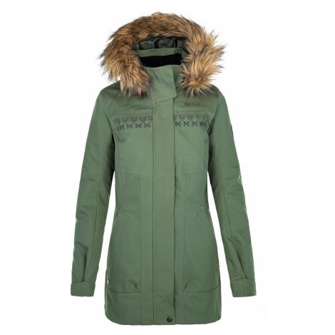 KILPI Dámský zimní kabát PERU-W QL0501KIKHK Khaki
