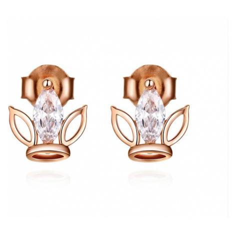 Linda's Jewelry Stříbrné náušnice pecky Crown Luxury line IN110