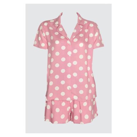 Trendyol Lila Puantiye Woven Pyjamas Set