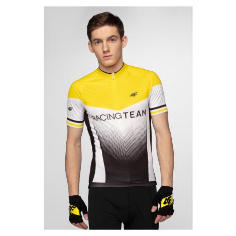Pánské cyklistické tričko RKM154 – žluté 4F