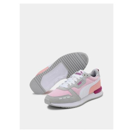 Puma růžovo-šedé tenisky se semišovými detaily