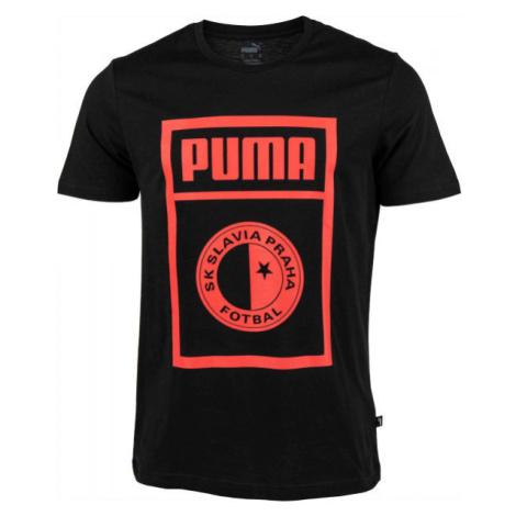 Puma SLAVIA PRAGUE GRAPHIC TEE bílá - Pánské triko