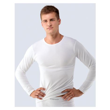 GINA Pánské triko dlouhý rukáv 58004-MxB bílá