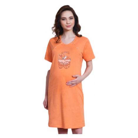Dámská noční košile mateřská Vienetta Secret Kočárek | tyrkysová