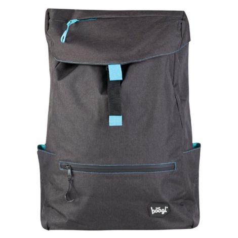 BAAGL Studentský batoh Black 22 l