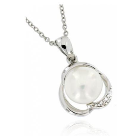 Dámský stříbrný perlový přívěsek