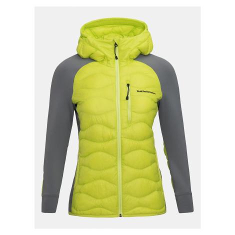 Bunda Peak Performance W Helium Hyb Hood Jacket - Zelená