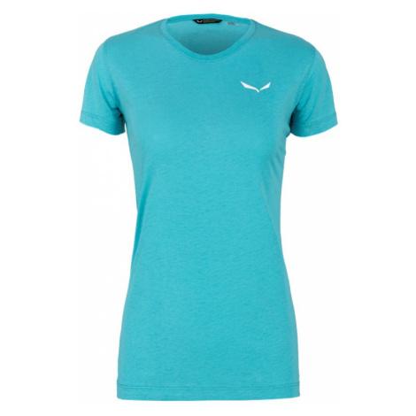 Dámské triko Salewa Alpine Hemp Logo T-Shirt Blue