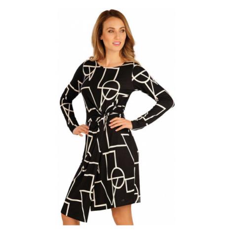 Dámské šaty s dlouhým rukávem Litex 60050 | tisk