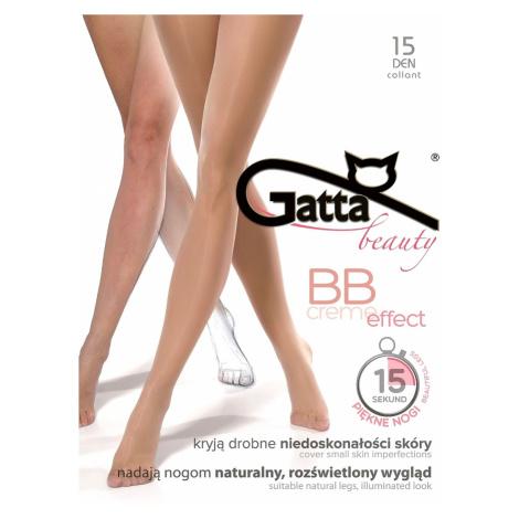 BB CREME EFFECT - Dámské punčochové kalhoty. - GATTA zlatá