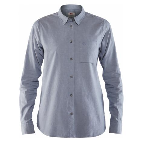 Dámská košile FJÄLLRÄVEN Övik Chambray Shirt LS W, Dove blue Fjällräven