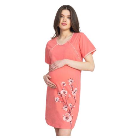 Dámská noční košile mateřská Vienetta Secret Jaro | lososová