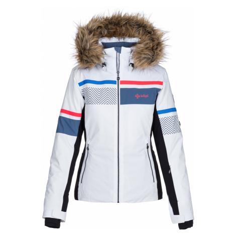 KILPI Dámská vyhřívaná lyžařská bunda ANIELA-W LL0024KIWHT Bílá