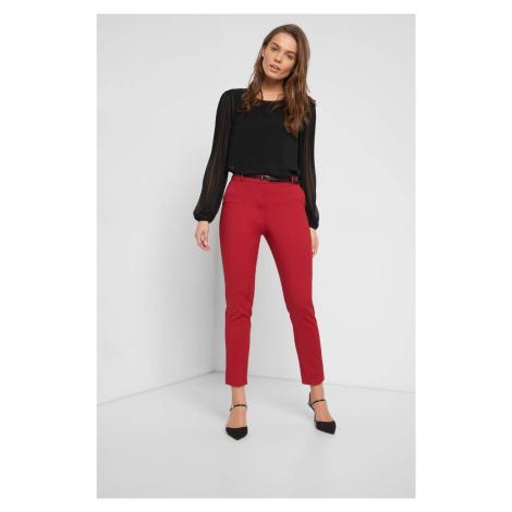Rovné kalhoty s opaskem Orsay