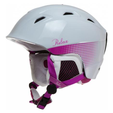 RELAX Helma Lyžařská helma RH20D bílá