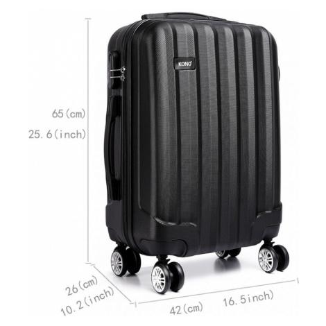 Černý cestovní kvalitní prostorný set kufrů 3v1 Corbin Lulu Bags