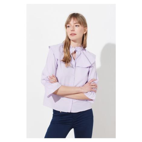 Trendyol Lila Frilled Shirt