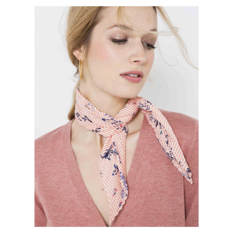 Světle růžový květovaný plisovaný šátek CAMAIEU Camaïeu