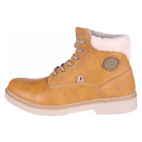 Dámská kotníková obuv Alpine Pro LUTAKA - hořčicová