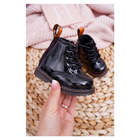 Children's Boots With Zipper Black Omua Kesi