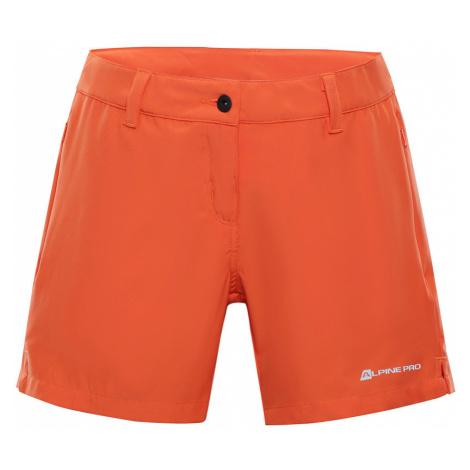 ALPINE PRO CUOMA 2 Dámské šortky LPAN315339 tmavě oranžová
