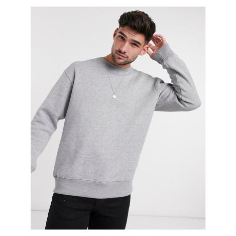 Jack & Jones Essentials crew neck sweatshirt in light grey