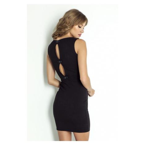 Dámské přiléhavé mini šaty v černé barvě CATHERINE IVON