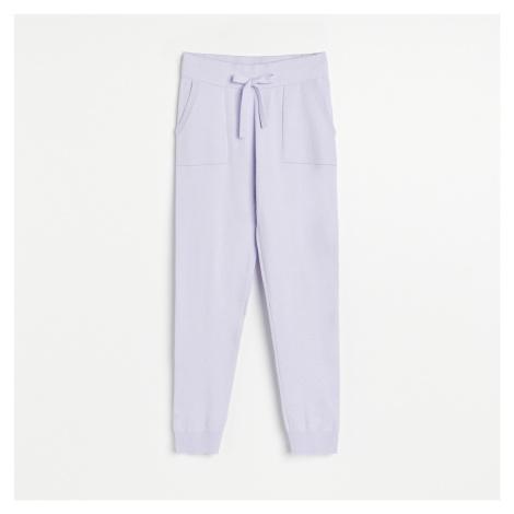 Reserved - Úpletové kalhoty - Fialová
