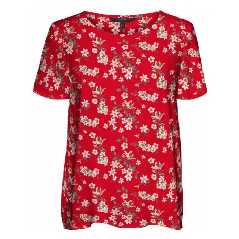 VERO MODA Tričko 'Simply' světle červená / olivová / pudrová / pastelově růžová / světle žlutá