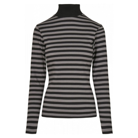 Ladies Y/D Turtleneck L/S - asphalt/black Urban Classics