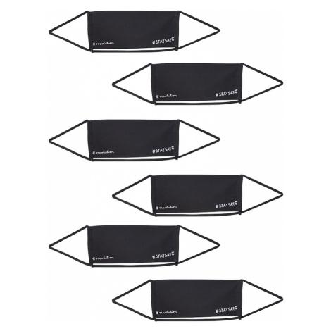 Recolution Látková rouška '6er Pack STAYSAFE' černá