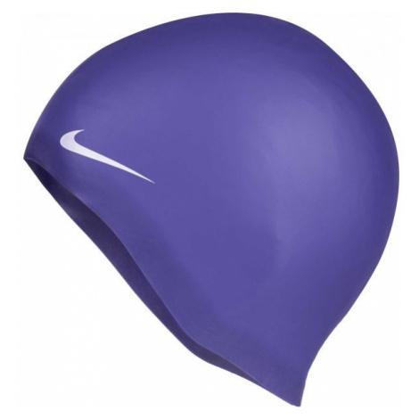 Nike SOLID SILICONE fialová - Plavecká čepice