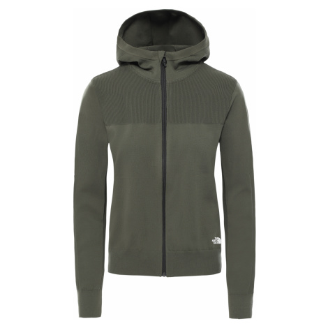 Dámská mikina THE NORTH FACE W Active Trail E-Knit Full Zip Hoodie, New Taupe Green
